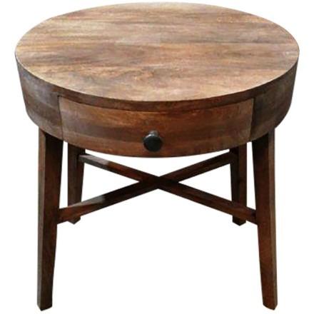 RONDE COFFEE TABLE 1ΣΥΡΤΑΡΙ ΦΥΣΙΚΟ D50xH46cm