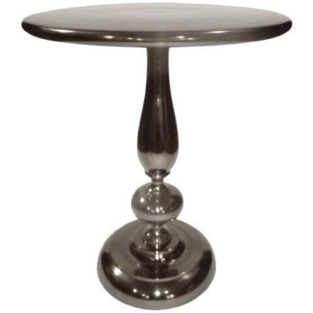 ROY SIDE TABLE ΜΑΥΡΟ NIKEL D41xH51cm