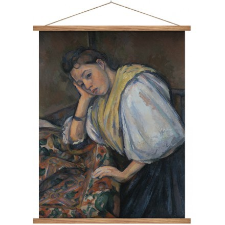 Young Italian Woman at a Table