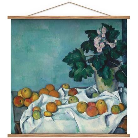 Νεκρή φύση με μήλα και με Primroses