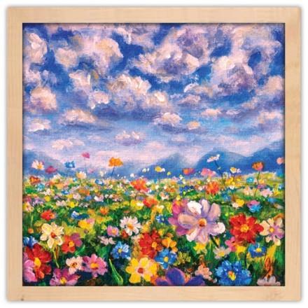 Paint landscape flower