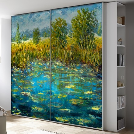 River water modern painting