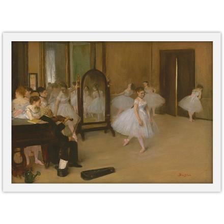 Tάξη χορού ζωγραφισμένη από σχέδια μελέτης