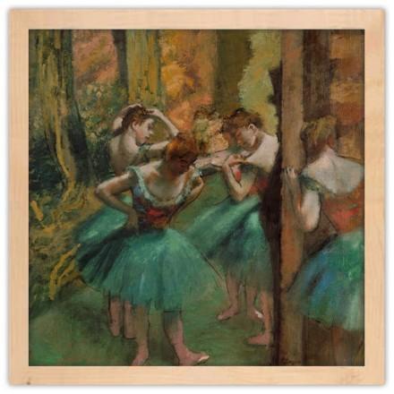 Χορεύτριες, ροζ και πράσινο