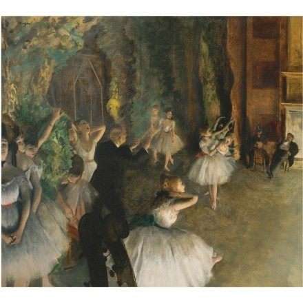 Rehearsal of the Ballet Onstage