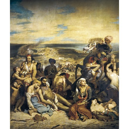 The Massacre of Chios, Greek Families Awaiting Death or Slavery