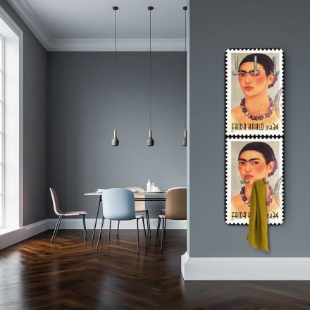 Selfportrait on american postage stamp