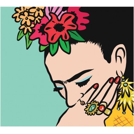 Frida Kahlo's hand with gold finger rings