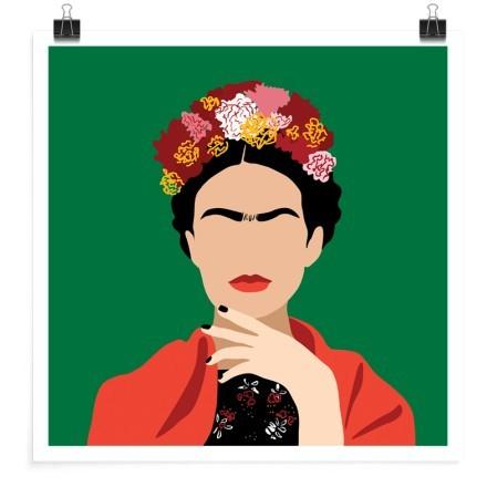 Frida Kahlo vector illustration minimalism