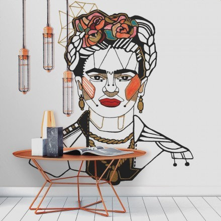 Frida Kahlo Red lips