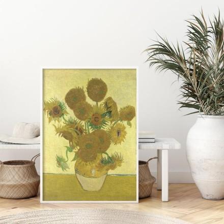 Still Life - Vase with Fifteen Sunflowers