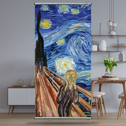 The Scream at The Starry Night