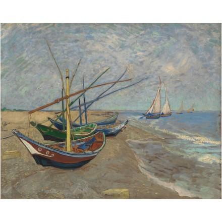 Fishing Boats on the Beach at Les Saintes-Maries