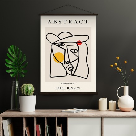 Abstract line face