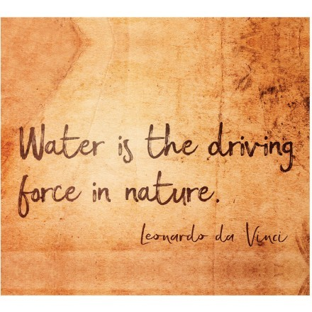 Water is the driving force in nature