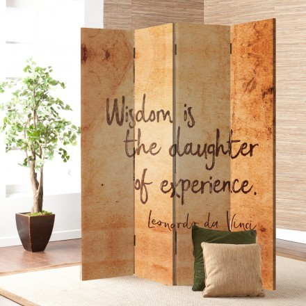Wisdom is the daughter of experience