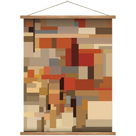 Abstract pastel mosaic pattern