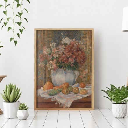 Still Life with Flowers and Prickly Pears