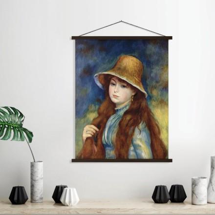 Κορίτσι με ψάθινο καπέλο