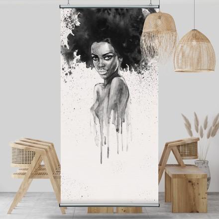 Γυναίκα με άφρο μαλλί
