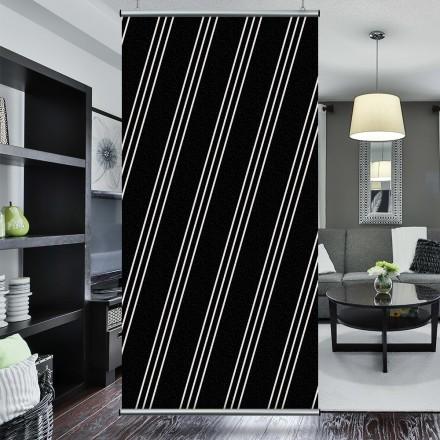 Άσπρες γραμμές, μαύρο φόντο