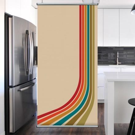 Χρωματιστές γραμμές στο μπεζ φόντο
