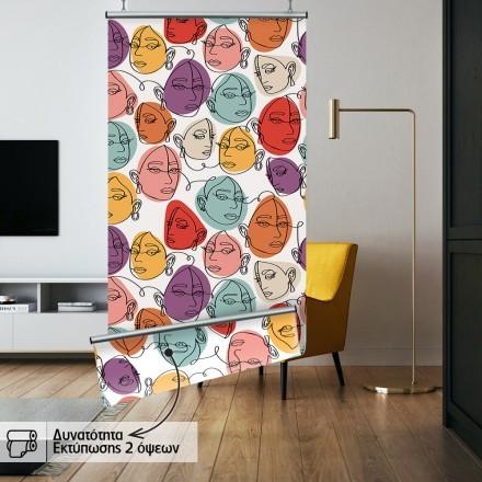 Μοτίβο προσώπων με χρώματα