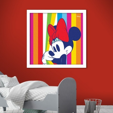 Minnie Mouse in a colourful pattern!