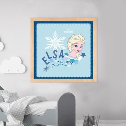 Elsa with snow