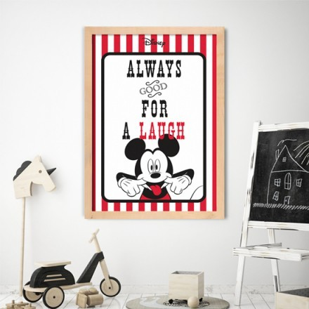 Always goog for a laugh,Mickey Mouse