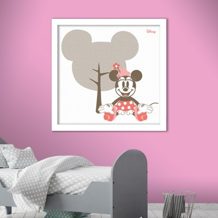 Vintage Minnie Mouse in a grey background!