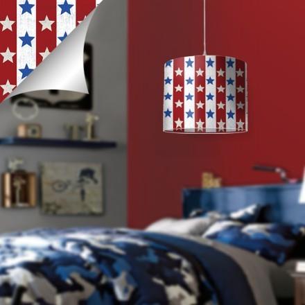 Κόκκινο και μπλε μοτίβο με αστεράκια, MIckey Mouse