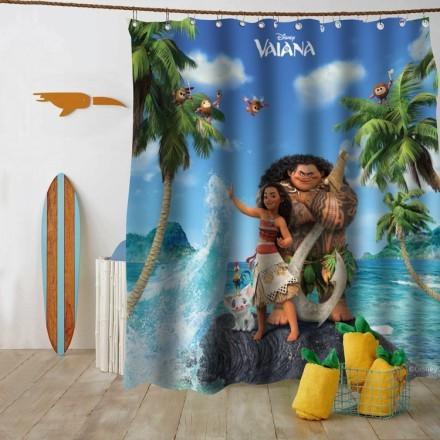 Η Μoana και o Maui στο νησί