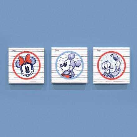 Σκίτσο του Μίκυ, της Μίνι και του Ντόναλντ!