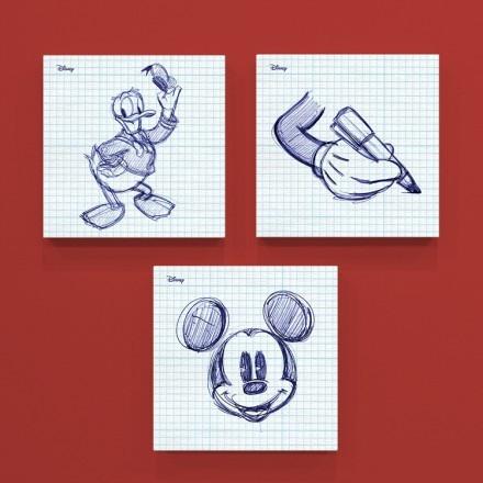 Σκίτσο από στυλό του Μίκυ και του Ντόναλντ!