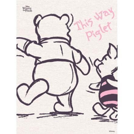 This way Piglet, Winnie the Pooh