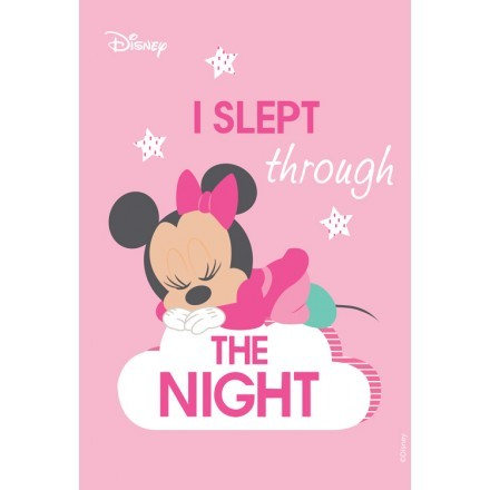 I slept through the night, Minnie Mouse