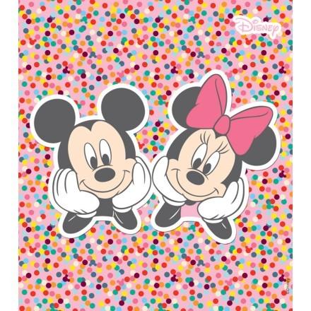 Ο Mickey και η Minnie σε πολύχρωμο φόντο!