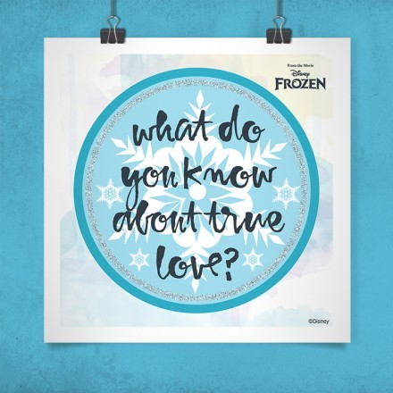 What do you know? Frozen!