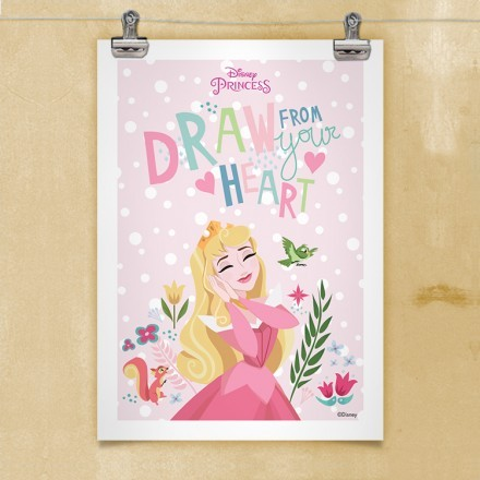 Draw from your heart, Princess Aurora!
