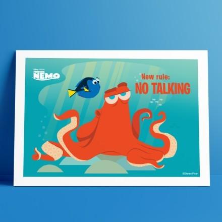 New rule, no talking, Finding Nemo!