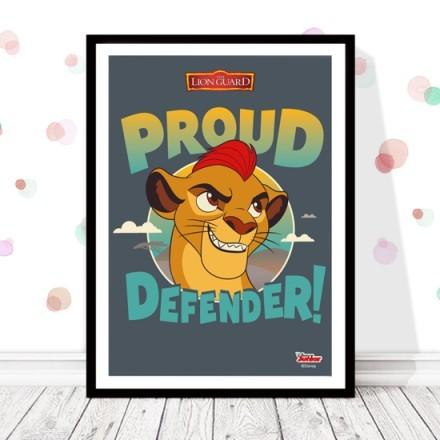 Proud defender Kion