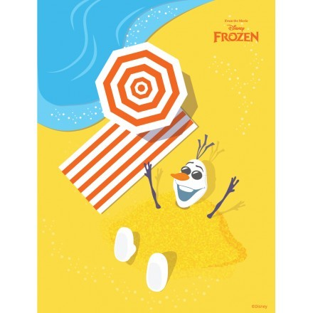 O Olaf παίζει στην παραλία, Frozen