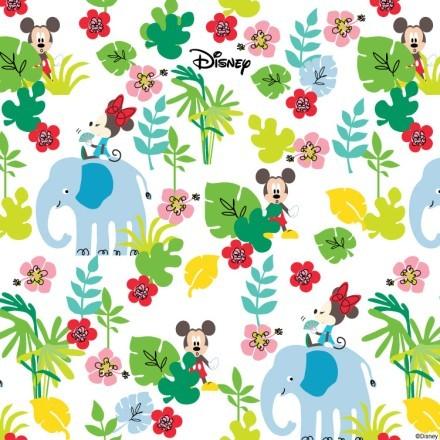 Jungle pattern, Mickey Mouse