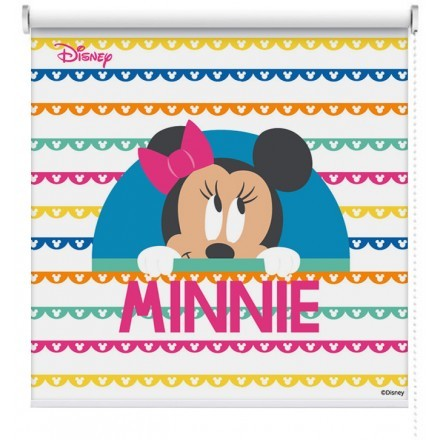 Minnie Mouse with stripes