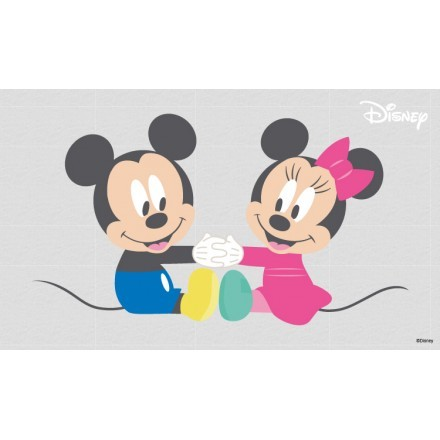 Mickey & Minnie Mouse are playing together!