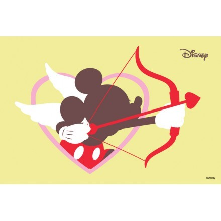Mickey Mouse fell in love...