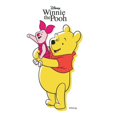 Winnie the Pooh αγκαλιά με τον Pigglet