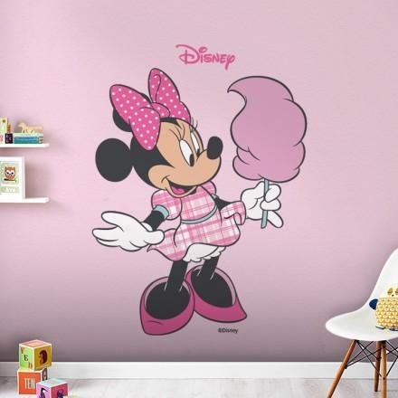 Minnie Mouse τρώει μαλλί της γριάς