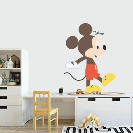 Mickey Mouse walks